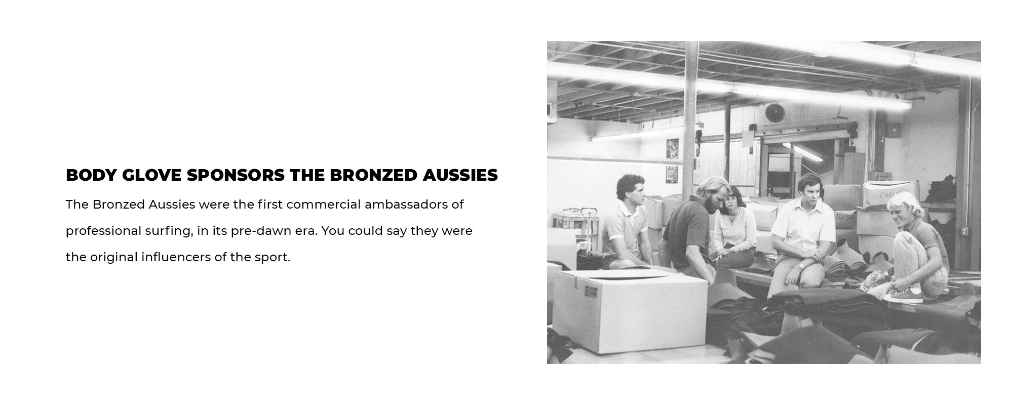 Body Glove Sponsors the Bronzed Aussies | The Bronzed Aussies were the first commercial ambassadors of professional surfing, in its pre-dawn era. You could say they were the original influencers of the sport.