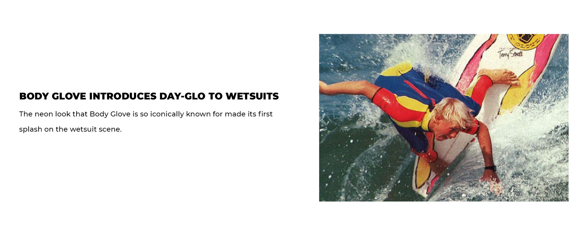 Body Glove Introduces Day-Glo to Wetsuits | The neon look that Body Glove is so iconically known for made its first splash on the wetsuit scene.