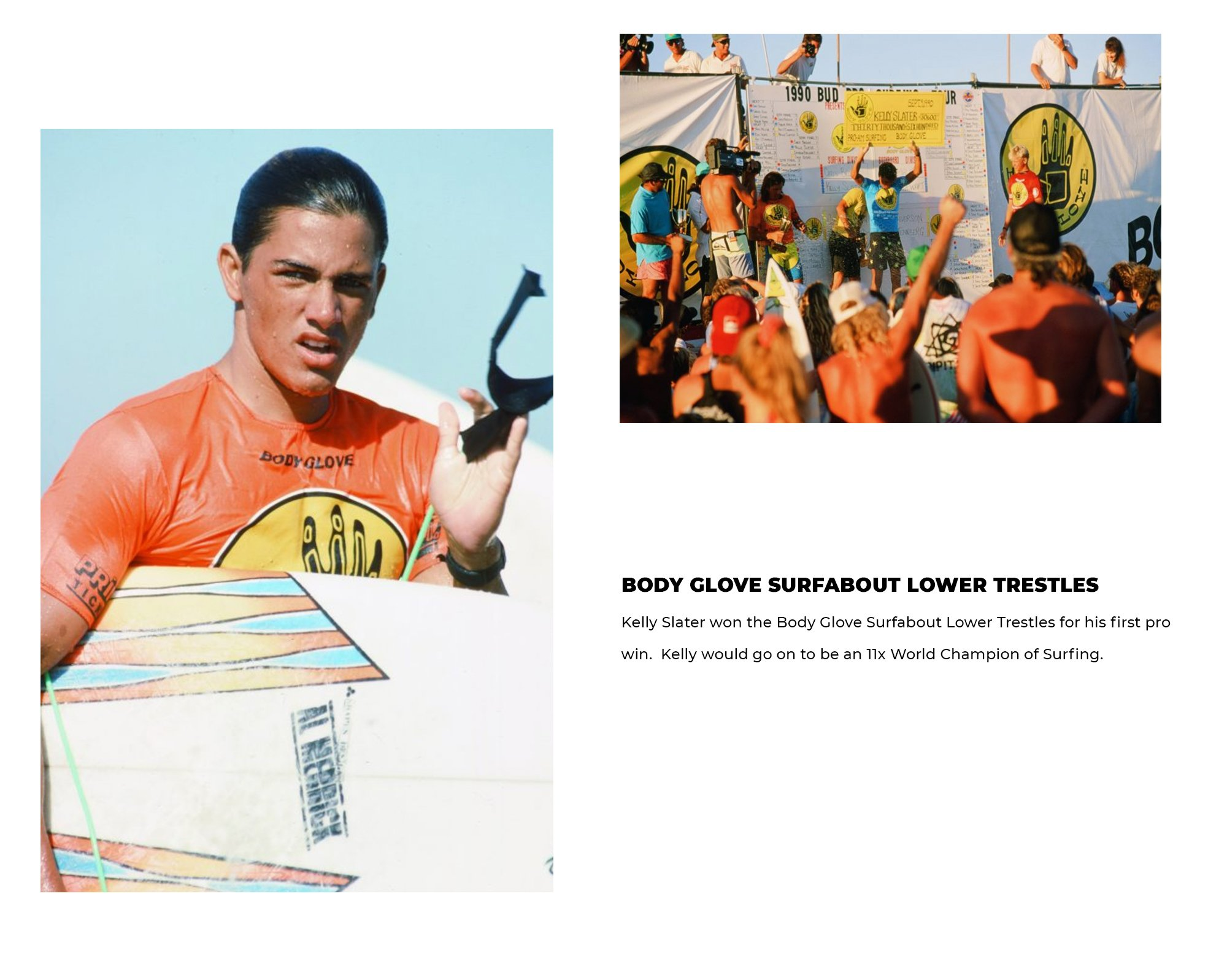 Body Glove Surfabout Lower Trestles | Kelly Slater won the Body Glove Surfabout Lower Trestles for his first pro win.  Kelly would go on to be an 11x World Champion of Surfing.
