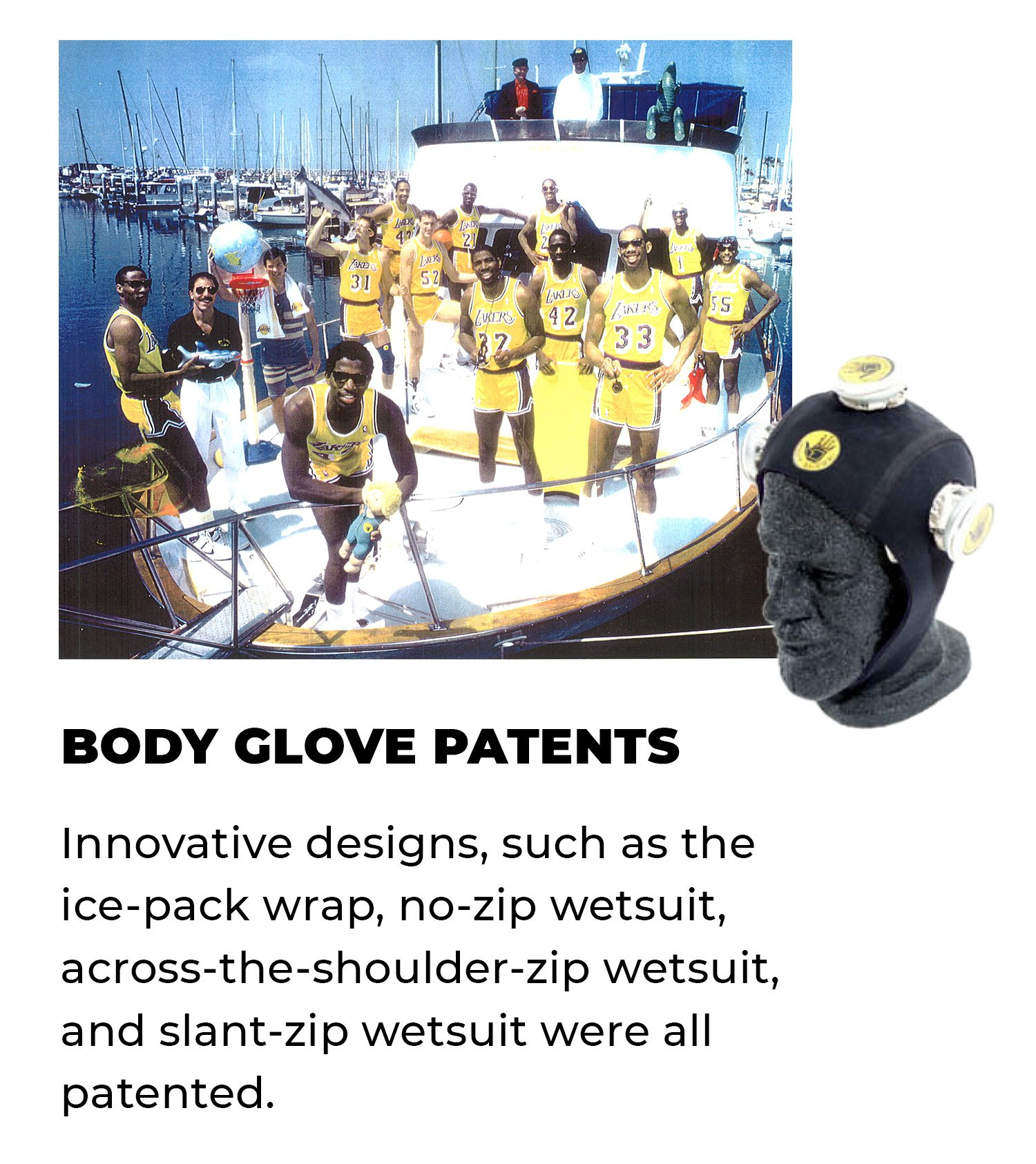 Body Glove Patents | Innovative designs, such as the ice-pack wrap, no-zip wetsuit, across-the-shoulder-zip wetsuit, and slant-zip wetsuit were all patented.